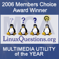 2006 LinuxQuestions.org Members Choice Award